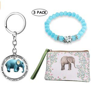 NEW GIFT SET OF 3 ELEPHANT THEMED ITEMS